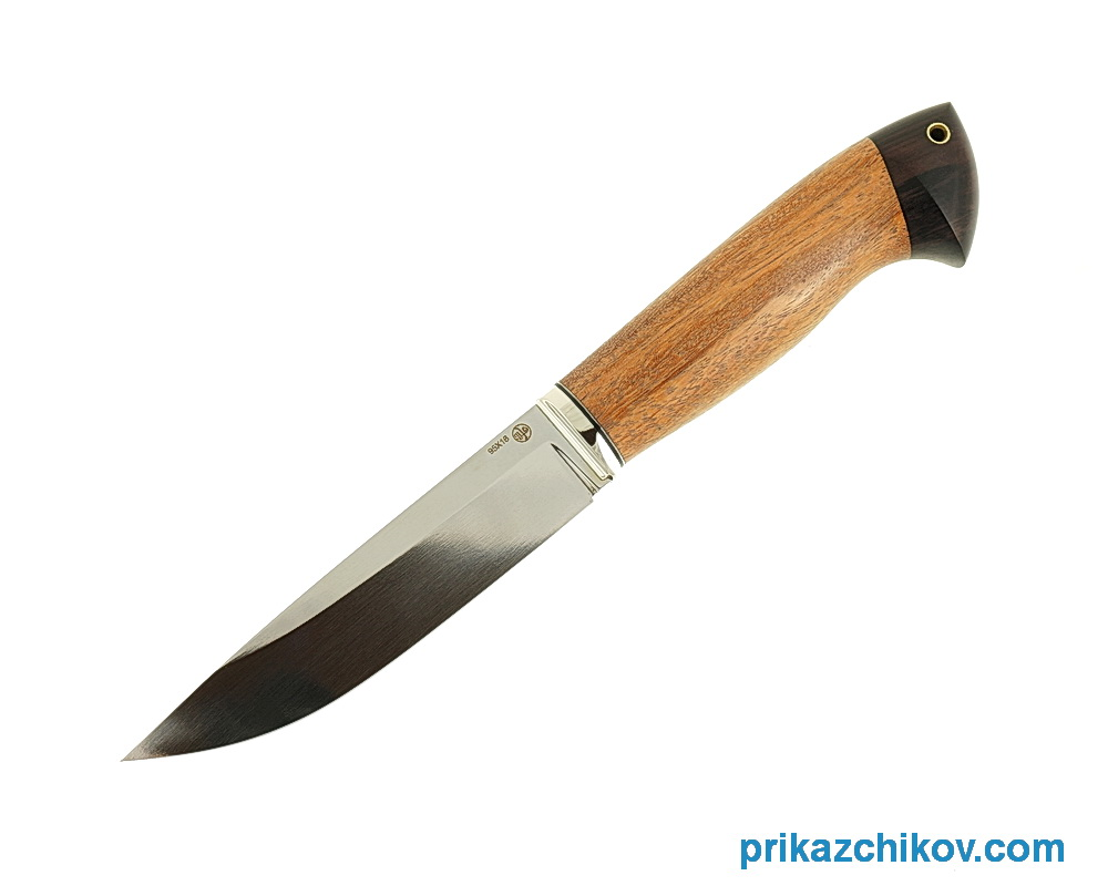 Нож из кованой стали 95Х18 Рабочий (рукоять сукупира и граб, литье мельхиор) N21