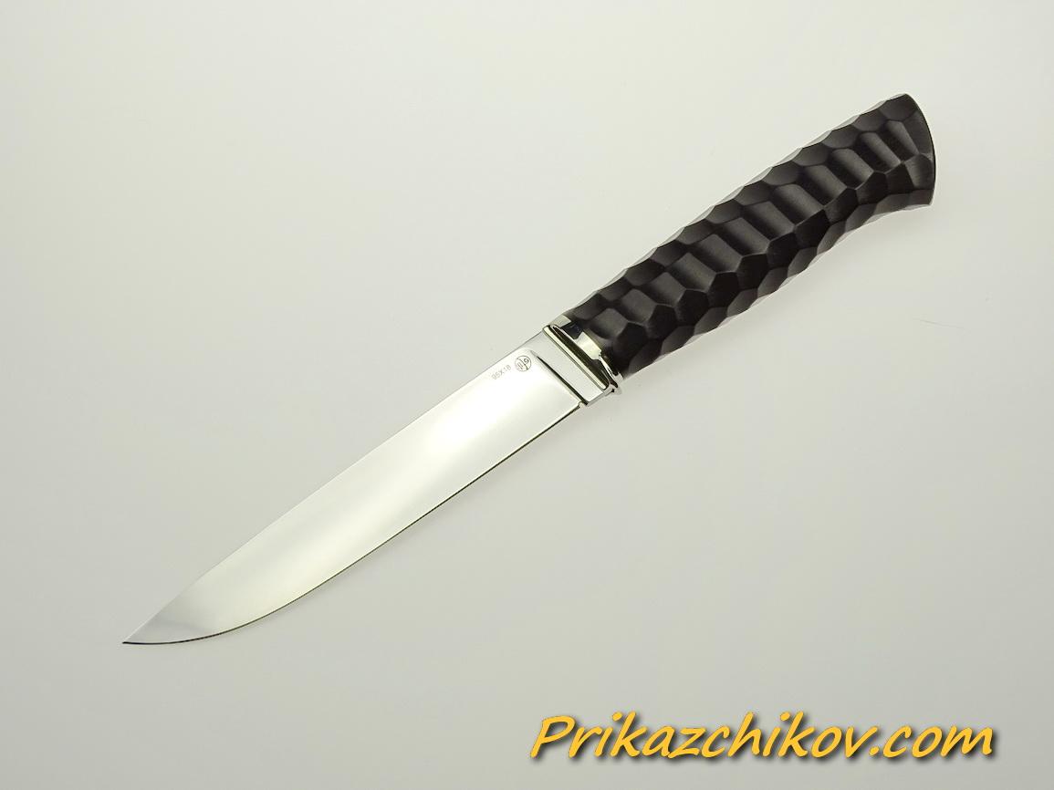 Нож из стали 95х18 (рукоять из тонированного граба, литьё из мельхиора) N 53