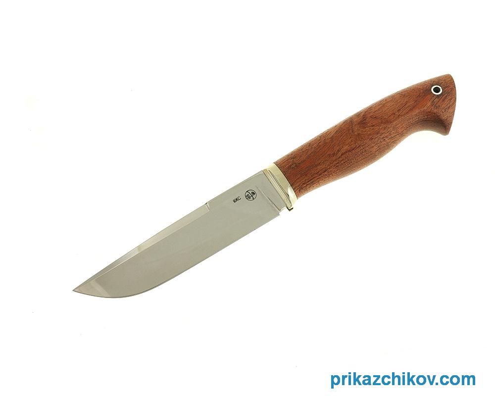Нож Рабочий из кованой стали 9ХС (рукоять бубинга, литье мельхиор) N11
