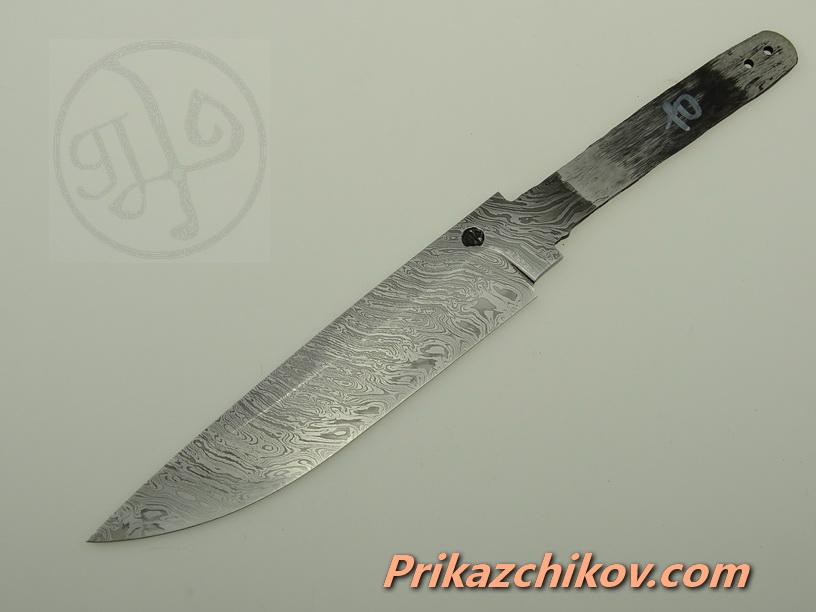 Клинок для ножа из дамасской стали N 10