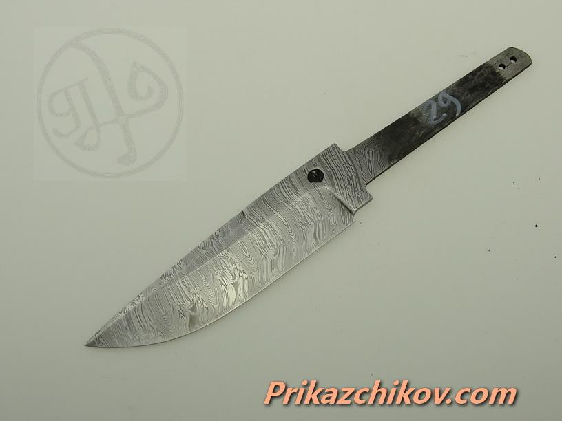 Клинок для ножа из дамасской стали N 29