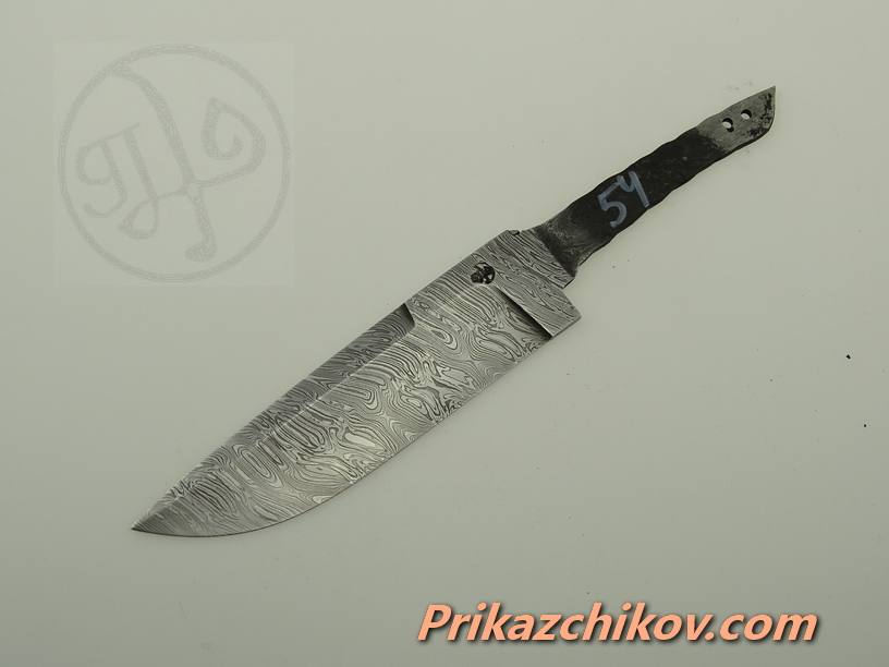 Клинок для ножа из дамасской стали N 54