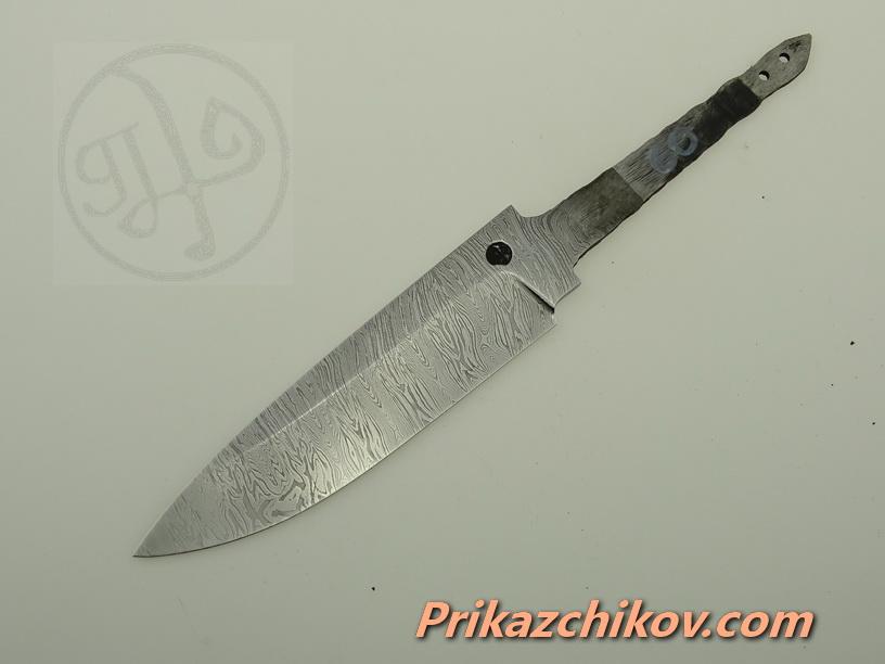 Клинок для ножа из дамасской стали N 60