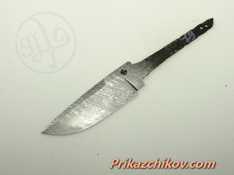 Клинок для ножа из дамасской стали N 79