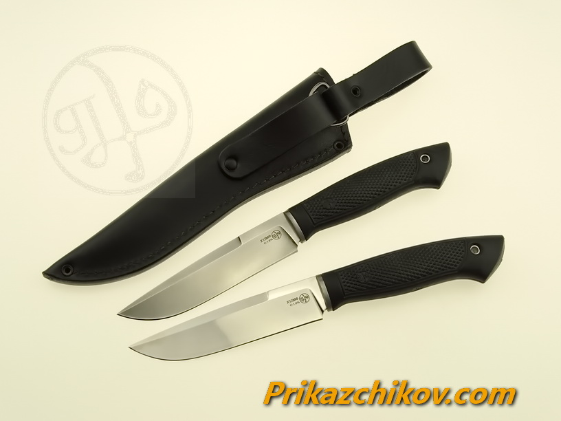 Нож с рукоятью из эластрона «Барсук»