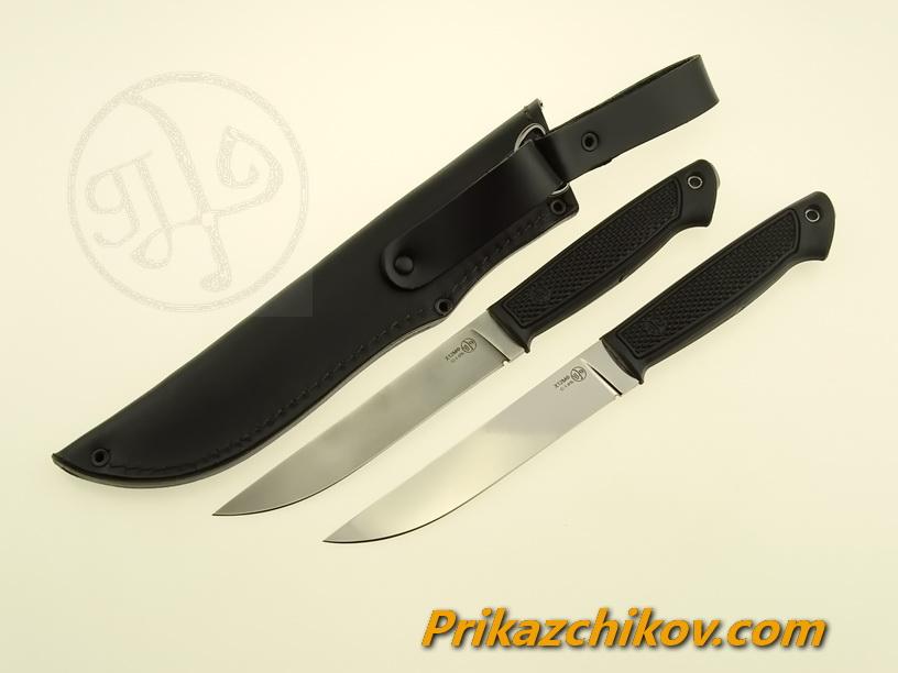 Нож с рукоятью из эластрона «Лань»