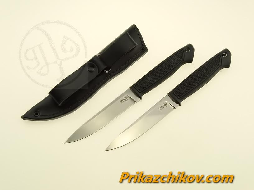 Нож с рукоятью из эластрона «Рябчик»