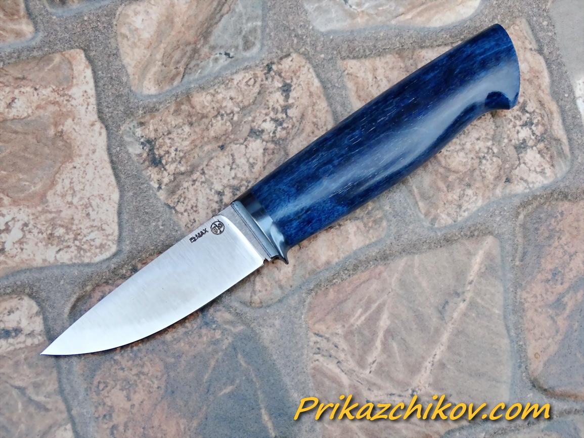 Нож из порошковой стали Elmax (рукоять из стабилизированной карельской березы) N67