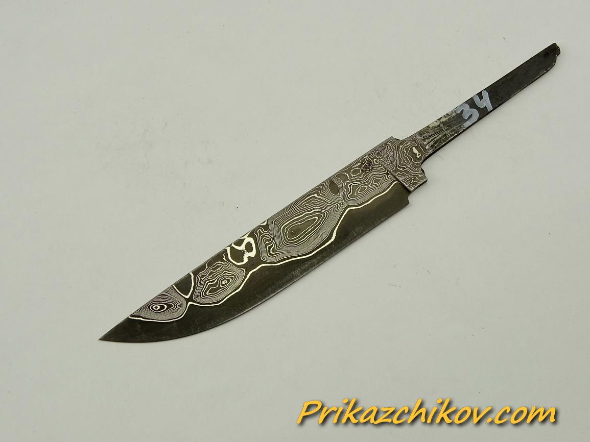 Клинок для ножа из ламинированной стали N 34
