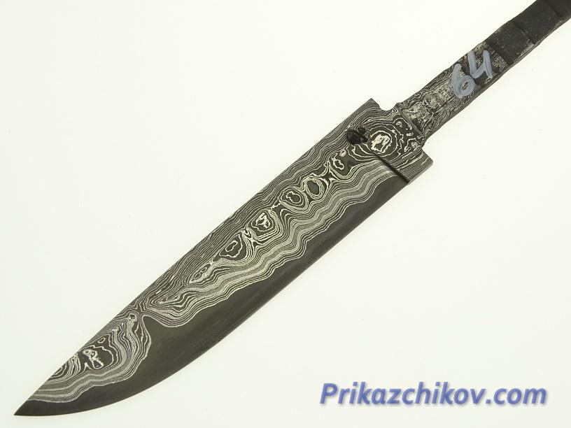 Клинок для ножа из ламинированной стали N 64