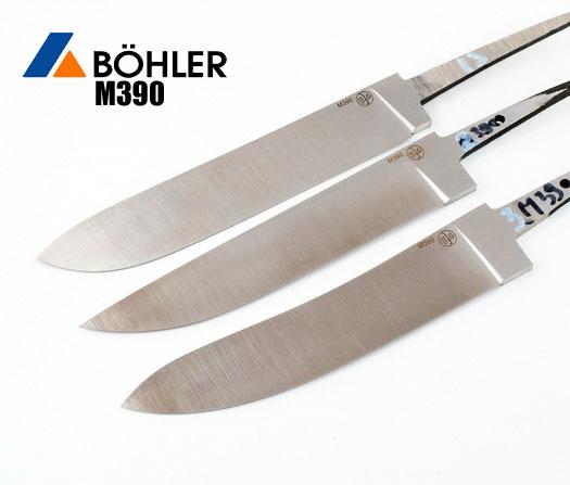 Новые клинки из порошковой стали М390 поступили в продажу.