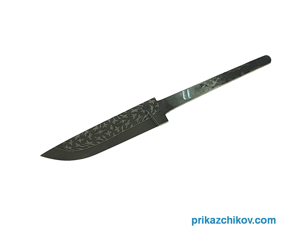 Клинок для ножа из мозаичного дамаска N11