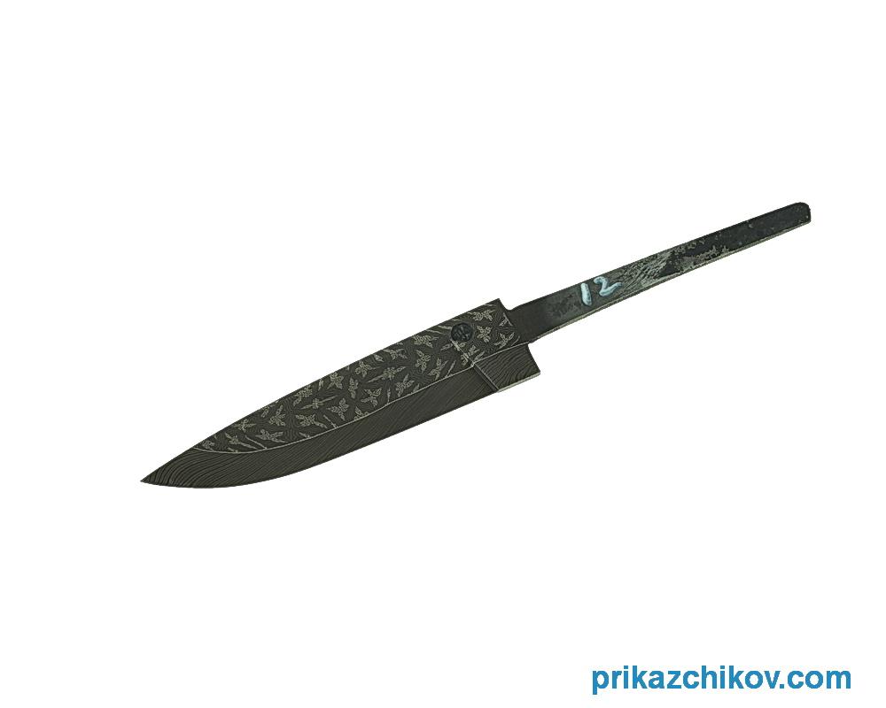 Клинок для ножа из мозаичного дамаска N12