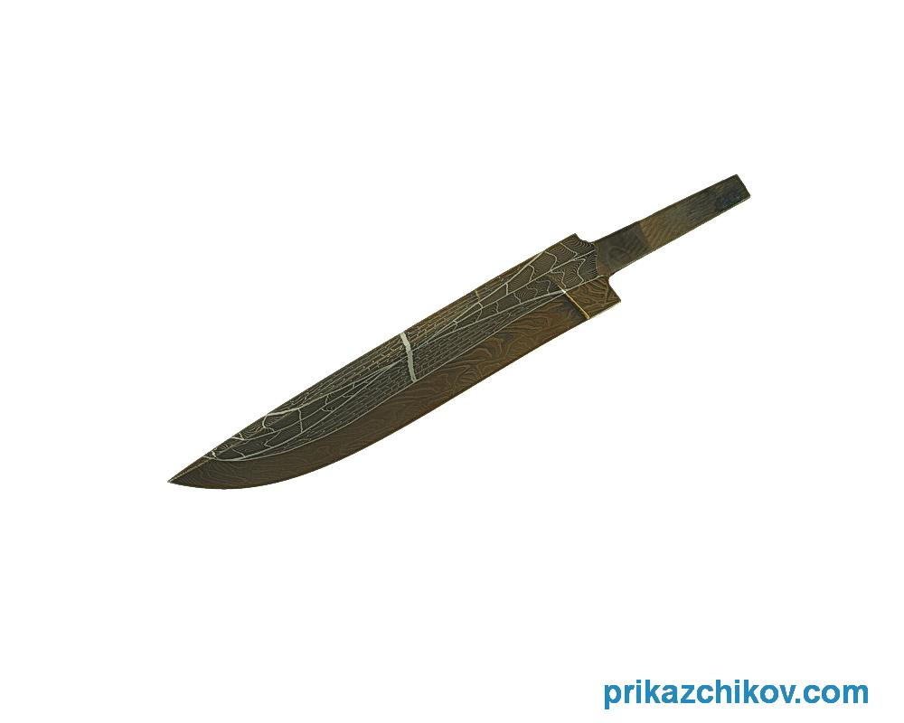 Клинок для ножа из мозаичного дамаска N18