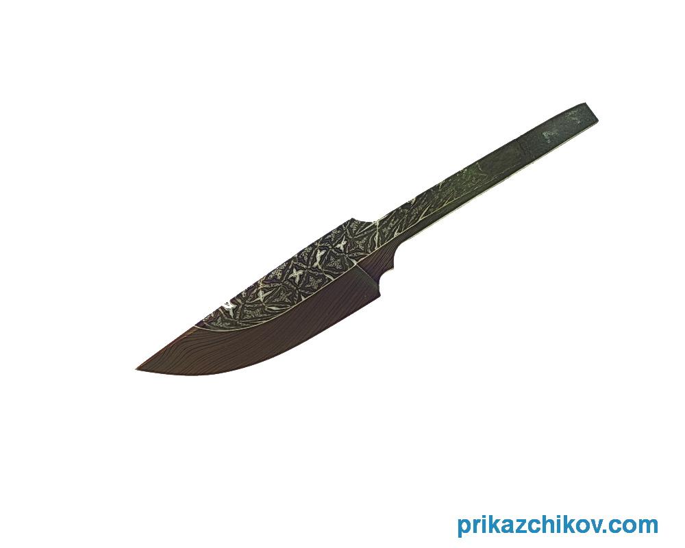Клинок для ножа из мозаичного дамаска N19