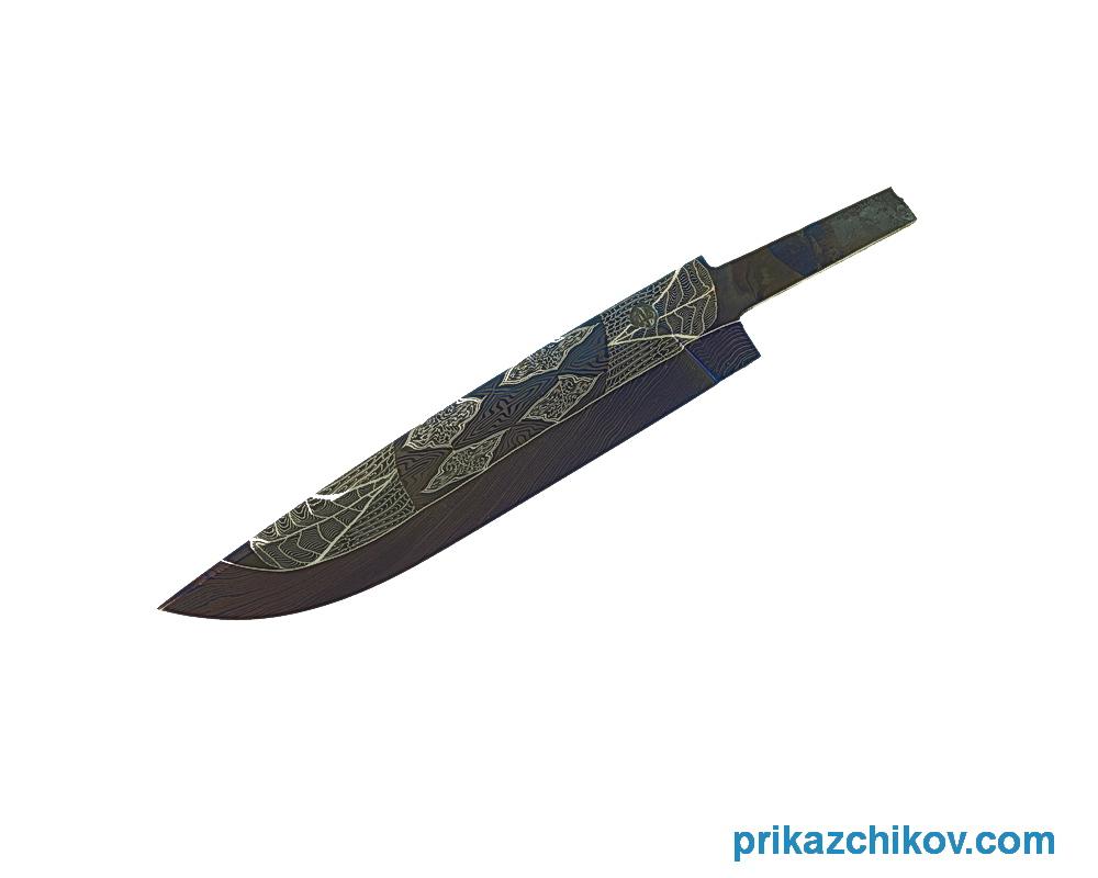 Клинок для ножа из мозаичного дамаска N20