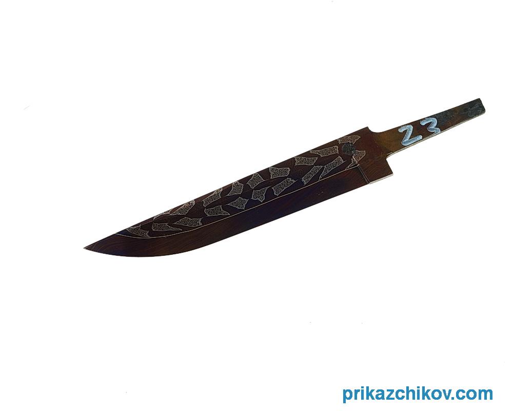 Клинок для ножа из мозаичного дамаска (mosaic damascus) N23