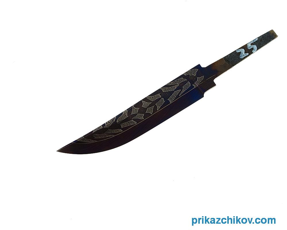 Клинок для ножа из мозаичного дамаска (mosaic damascus) N25