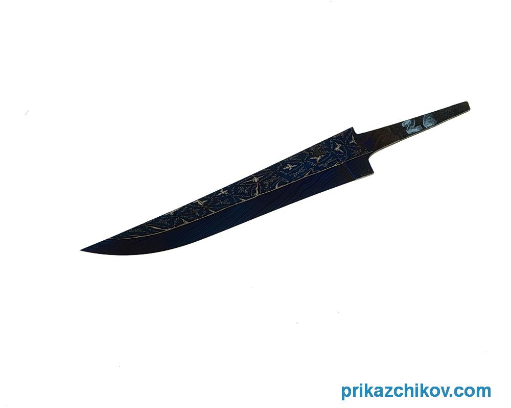 Клинок для ножа из мозаичного дамаска (mosaic damascus) N26