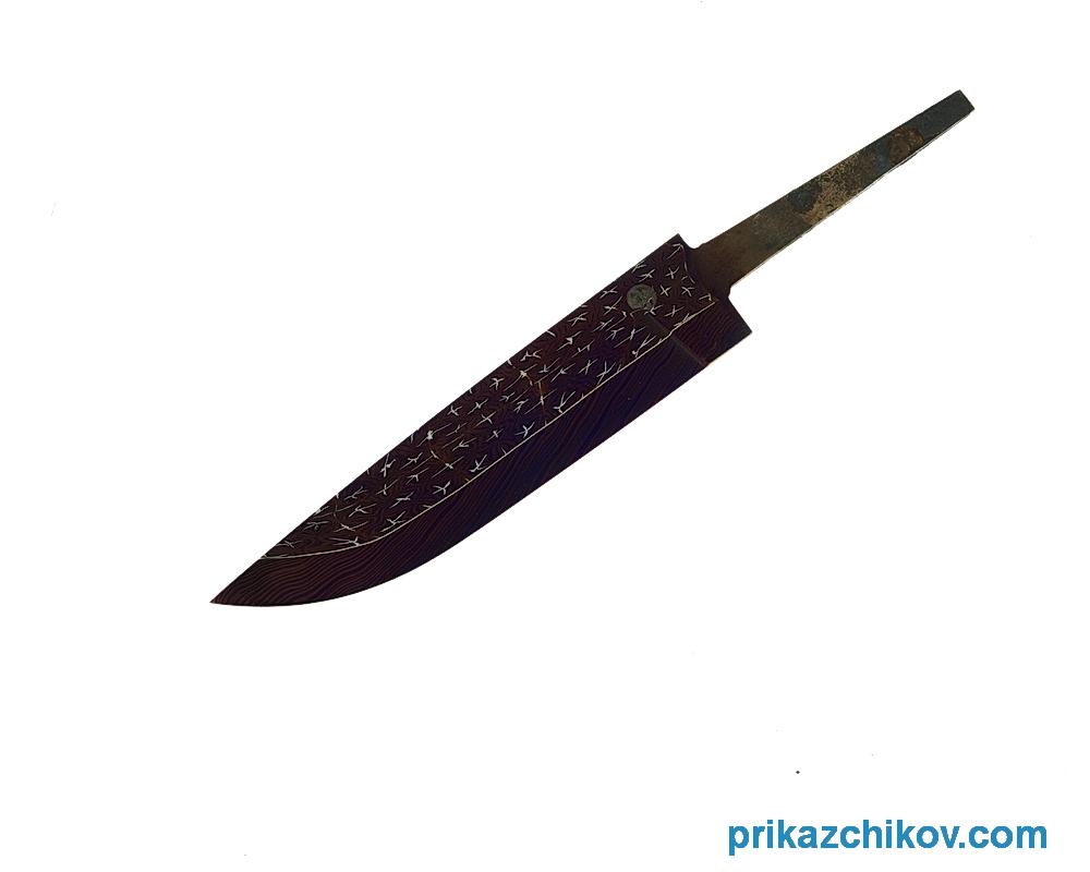 Клинок для ножа из мозаичного дамаска N5