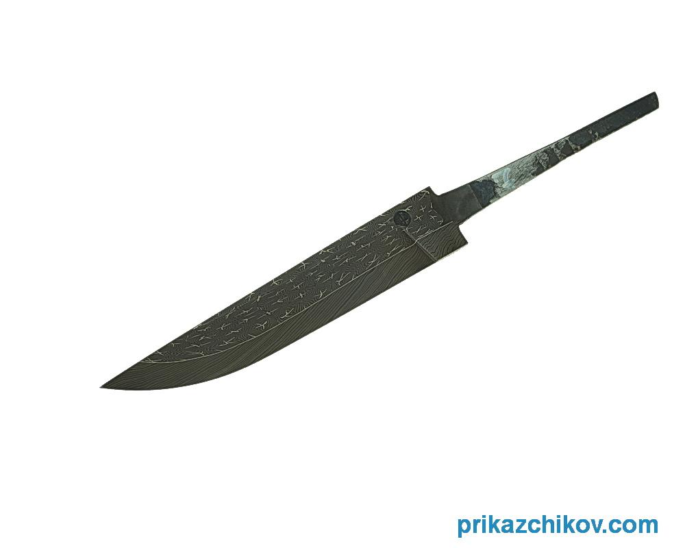 Клинок для ножа из мозаичного дамаска N7
