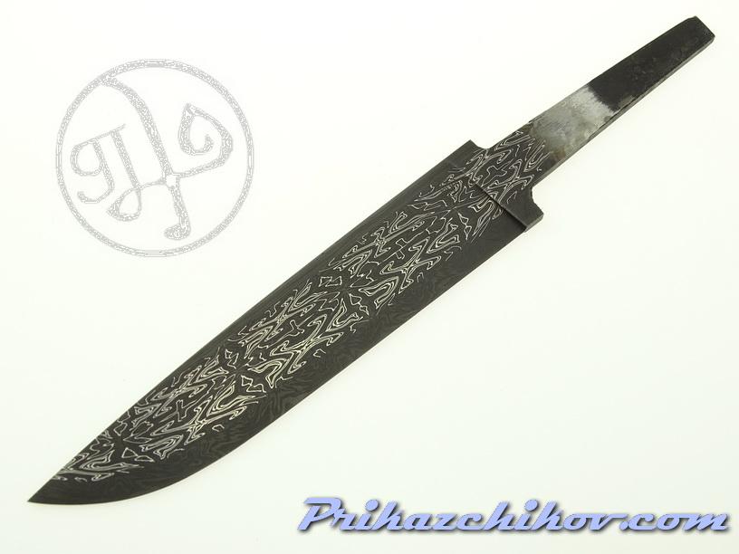 Клинок для ножа из мозаичного дамаска (mosaic damascus) M 28