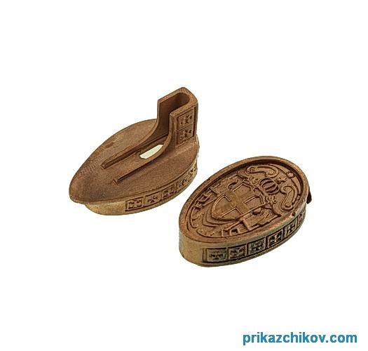 Комплект Литье из бронзы для ножа Крестоносец малый.