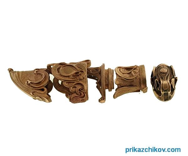 Комплект литья из бронзы для ножа Андрей Первозванный. К1