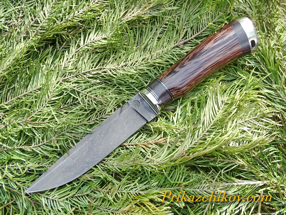 Нож из тигельного литого булата N2