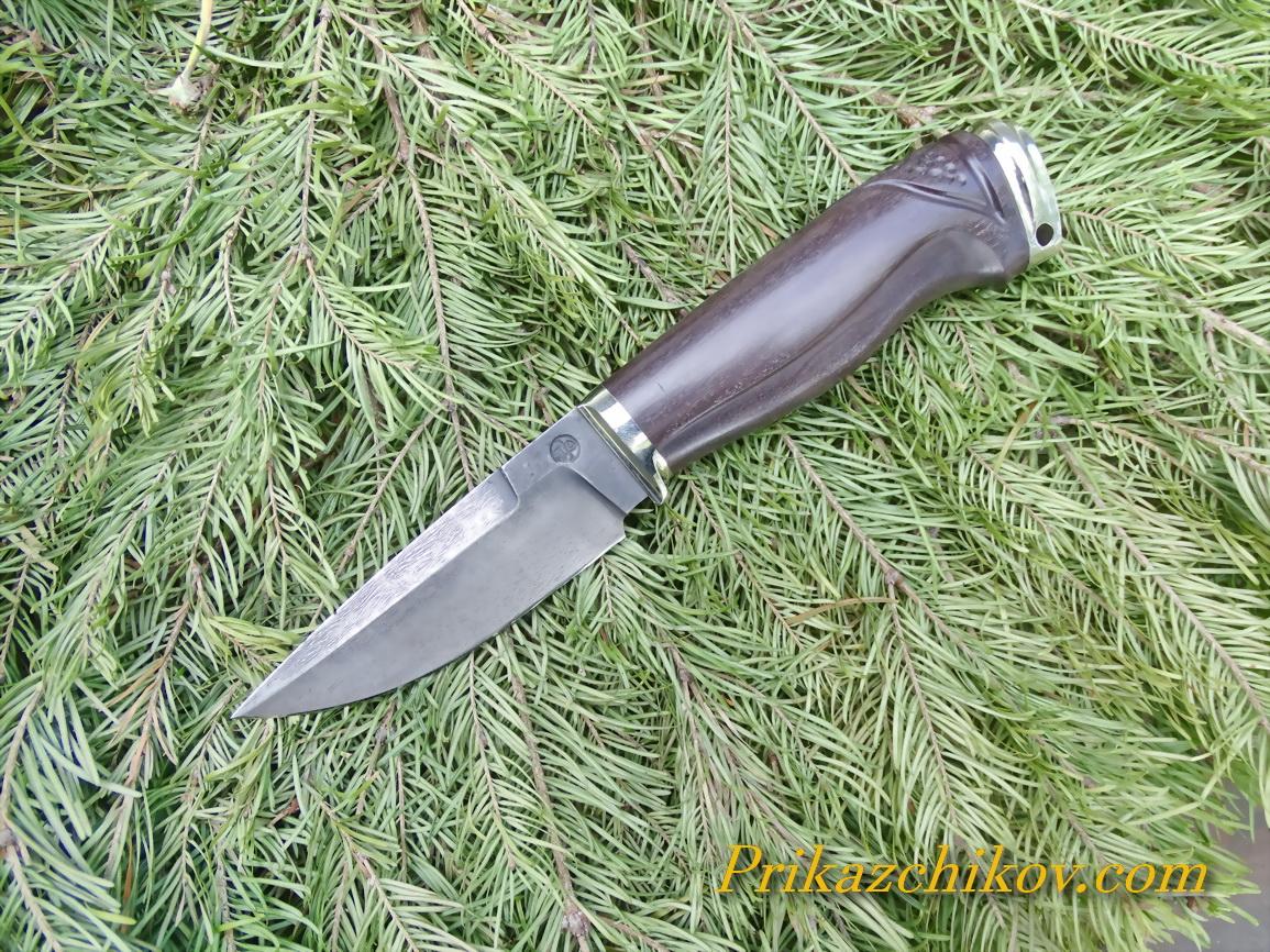 Нож из тигельного литого булата N9