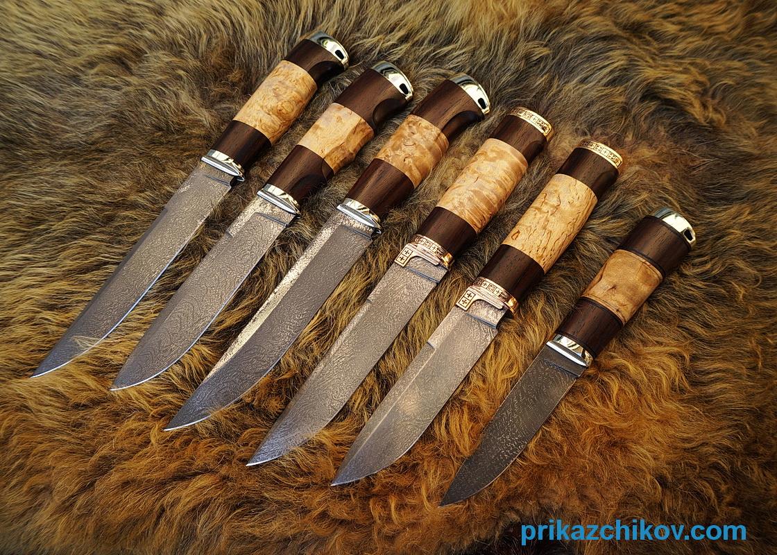 Новые ножи из тигельного литого булата.